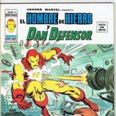 Cómics: EL HOMBRE DE HIERRO Y DAN DEFENSOR VOL. 2 Nº 13 - YO GRITO; VENGANZA - VERTICE 1974. Lote 257512205