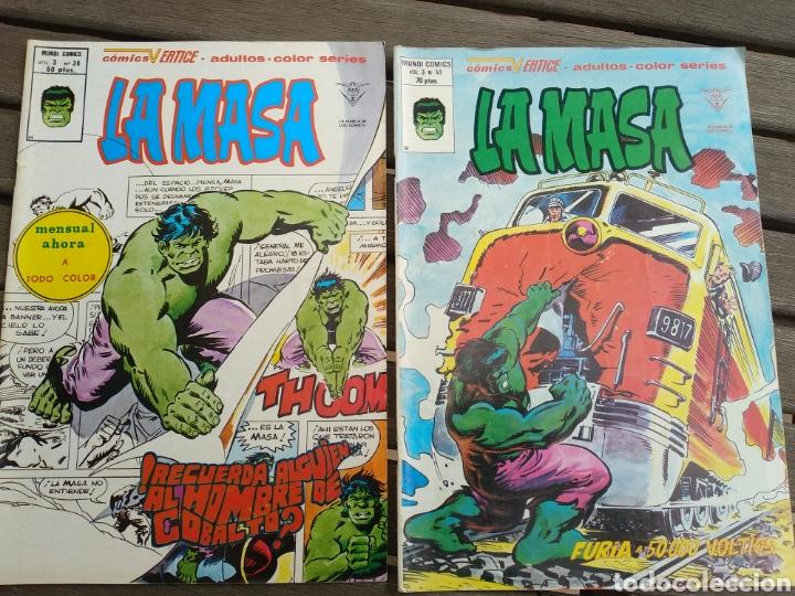 LA MASA (HULK) 36 Y 41 (Tebeos y Comics - Vértice - La Masa)