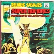 Cómics: RELATOS SALVAJES VOL.1 Nº: 7. SUPER HOMBRES PROCEDENTES DE LAS ESTRELLAS. VÉRTICE, 1975.. Lote 260712330