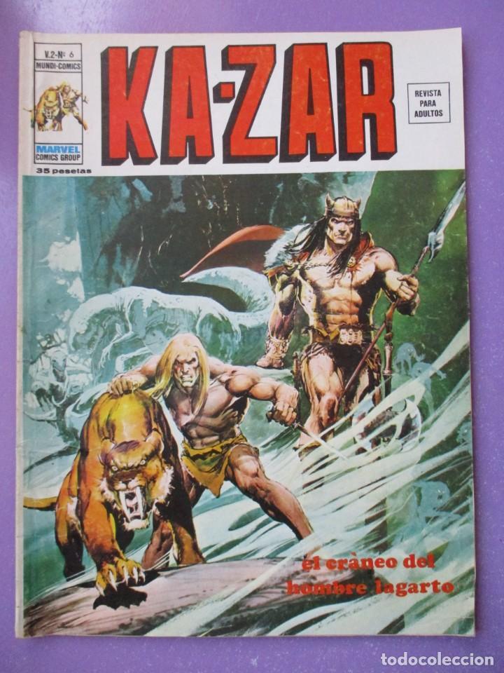 KA ZAR Nº 6 VERTICE VOLUMEN 2 ¡¡¡¡¡ BUEN ESTADO!!!! (Tebeos y Comics - Vértice - V.1)