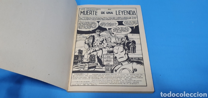 Cómics: LOS VENGADORES - MUERTE DE UNA LEYENDA - VÉRTICE - EDICIÓN TACO - Foto 2 - 262193780