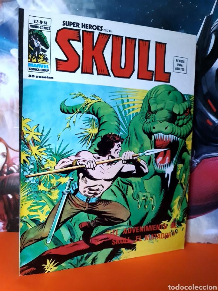 DE KIOSCO SUPER HÉROES 51 SKULL MUNDI COMICS MARVEL EDICIONES VERTICE (Tebeos y Comics - Vértice - Super Héroes)