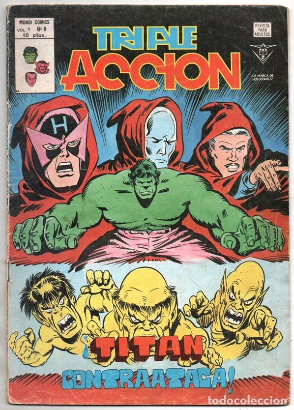 1979 MUNDI COMICS V1 # 8 TRIPLE ACCION LA MASA DORMAMMU DR STRANGE NAMOR SILVER SURFER (Tebeos y Comics - Vértice - Super Héroes)