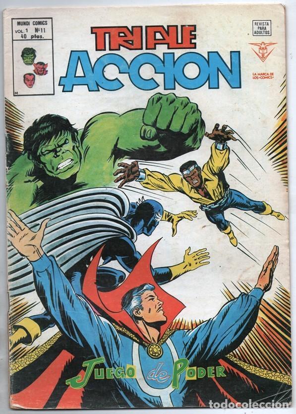 1979 MUNDI COMICS V1#11 LOS DEFENSORES LA MASA STRANGE NAMOR SILVER SURFER LEE JACK KIRBY ROY THOMAS (Tebeos y Comics - Vértice - Super Héroes)