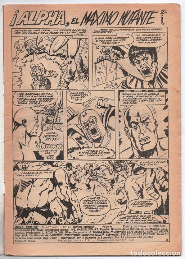 Cómics: 1979 MUNDI COMICS V1#11 LOS DEFENSORES LA MASA STRANGE NAMOR SILVER SURFER LEE JACK KIRBY ROY THOMAS - Foto 2 - 263166095