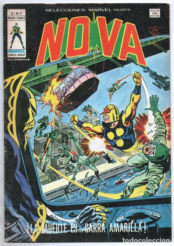1979 MUNDI COMICS V1 # 37 NOVA STAN LEE MARV WOLFMAN CARMINE INFANTINO LA GARRA AMARILLA 38 PAG (Tebeos y Comics - Vértice - Super Héroes)