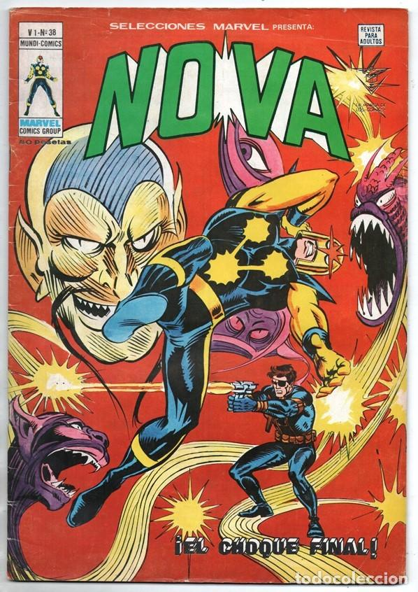 1979 MUNDI COMICS V1 # 38 NOVA STAN LEE MARV WOLFMAN CARMINE INFANTINO EL OSCURECEDOR 38 PAG (Tebeos y Comics - Vértice - Super Héroes)