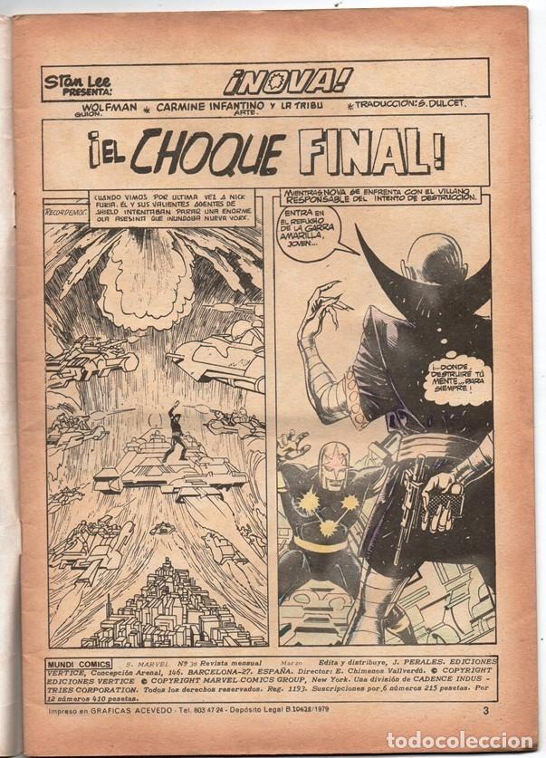 Cómics: 1979 MUNDI COMICS V1 # 38 NOVA STAN LEE MARV WOLFMAN CARMINE INFANTINO EL OSCURECEDOR 38 PAG - Foto 2 - 263217465