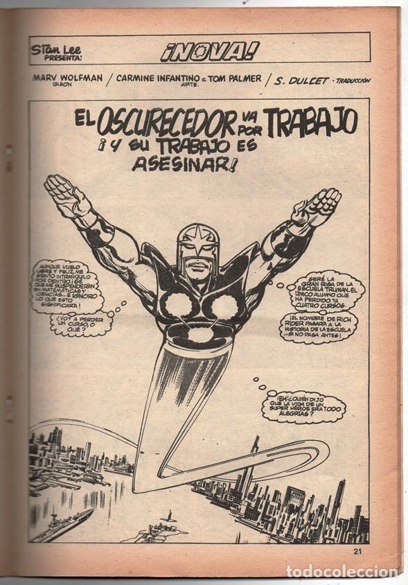 Cómics: 1979 MUNDI COMICS V1 # 38 NOVA STAN LEE MARV WOLFMAN CARMINE INFANTINO EL OSCURECEDOR 38 PAG - Foto 4 - 263217465