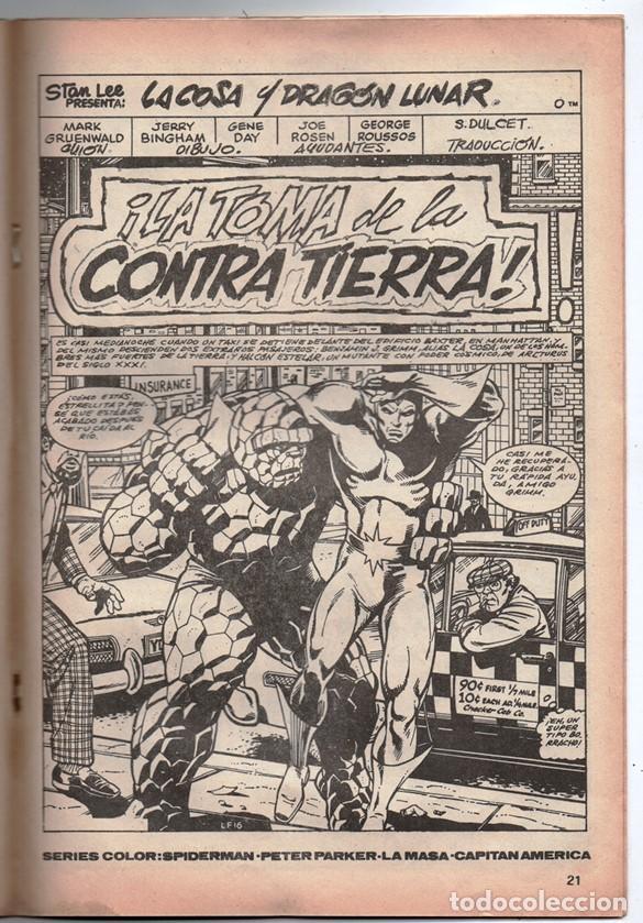 Cómics: 1980 MUNDI COMICS V1 # 52 LA COSA LA MOLE STAN LEE JACK KIRBY MARK GRUENWALD BINGHAM 38 PAG - Foto 3 - 263217885