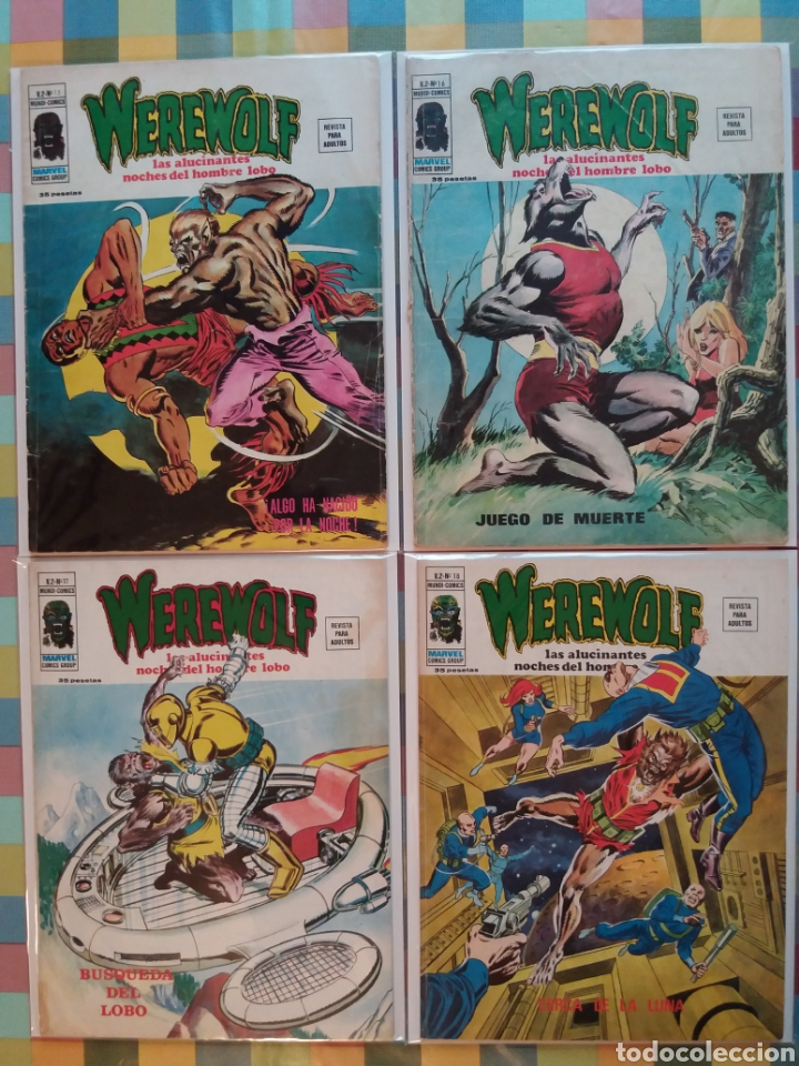 WEREWOLF VOL.2 N°15, 16, 17, 18 -VERTICE- (Tebeos y Comics - Vértice - Terror)