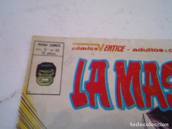 Cómics: LA MASA - VERTICE - VOLUMEN 3 - NUMERO 39 - PRIMERA APIRICION LOBEZNO- GORBAUD - CJ 136 - Foto 2 - 266230493