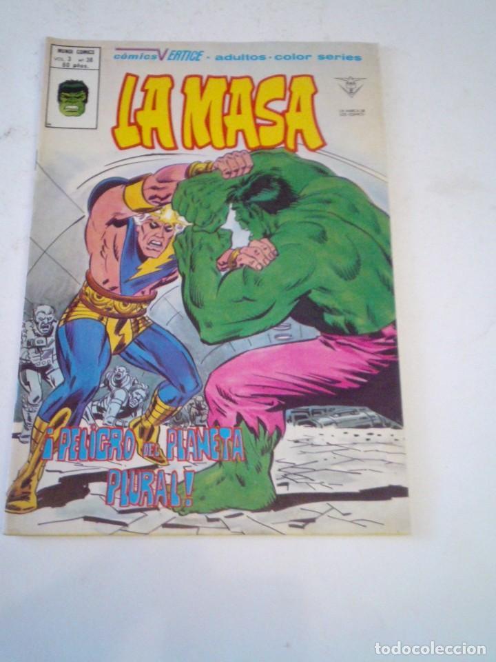 LA MASA - VERTICE - VOLUMEN 3 - NUMERO 38 - MUY BUEN ESTDO - GORBAUD - CJ 136 (Tebeos y Comics - Vértice - La Masa)