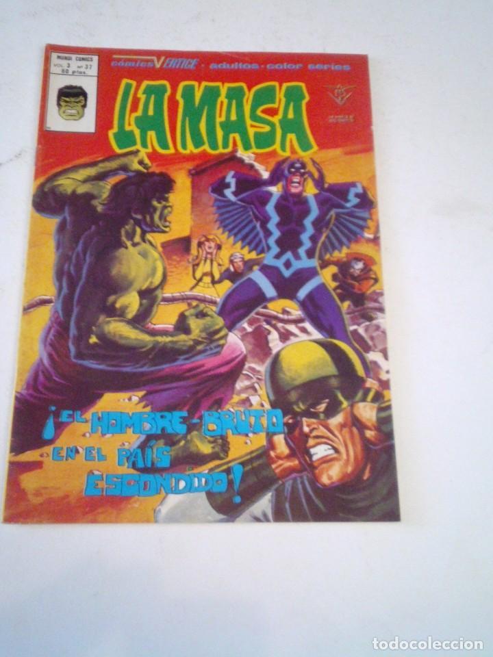 LA MASA - VERTICE - VOLUMEN 3 - NUMERO 37 - MUY BUEN ESTDO - GORBAUD- CJ 136 (Tebeos y Comics - Vértice - La Masa)