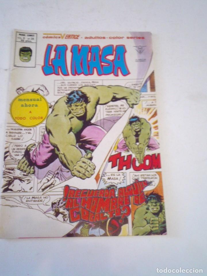 LA MASA - VERTICE - VOLUMEN 3 - NUMERO 36 - MUY BUEN ESTDO - GORBAUD - CJ 136 (Tebeos y Comics - Vértice - La Masa)