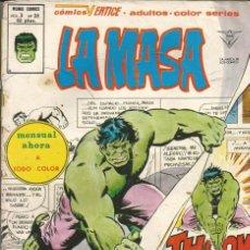 Cómics: LA MASA V3. VÉRTICE 1975. Nº 36 ¿RECUERDA ALGUIEN AL HOMBRE DE COBALTO?. Lote 266577613