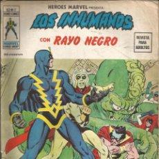 Cómics: HÉROES MARVEL - LOS INHUMANOS CON RAYO NEGRO V2. VÉRTICE. Nº 2. 35 PTAS.. Lote 266578073