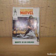 """Cómics: HEROES MARVEL CON EL CAPITAN SAVAGE """"MUERTE DE UN COMANDO"""". Lote 267256619"""