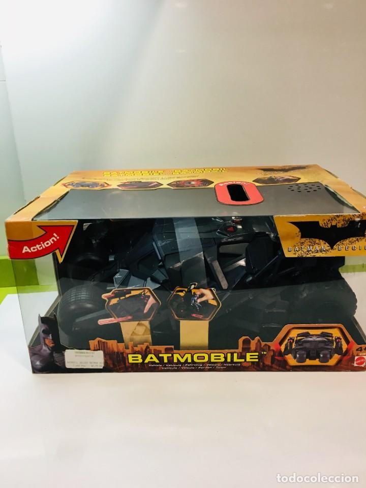 BATMAN BEGINS, BATMOVIL, BATMOBILE, COCHE BATMAN, SUPER HEROES, MATTEL, (Tebeos y Comics - Vértice - Super Héroes)
