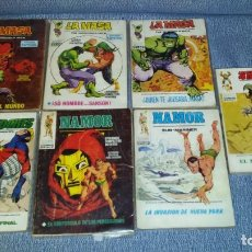 Cómics: 7 COMICS VERTICE - LOS 4 FANTASTICOS - LA MASA - NAMOR - LOS VENGADORES. Lote 270404518