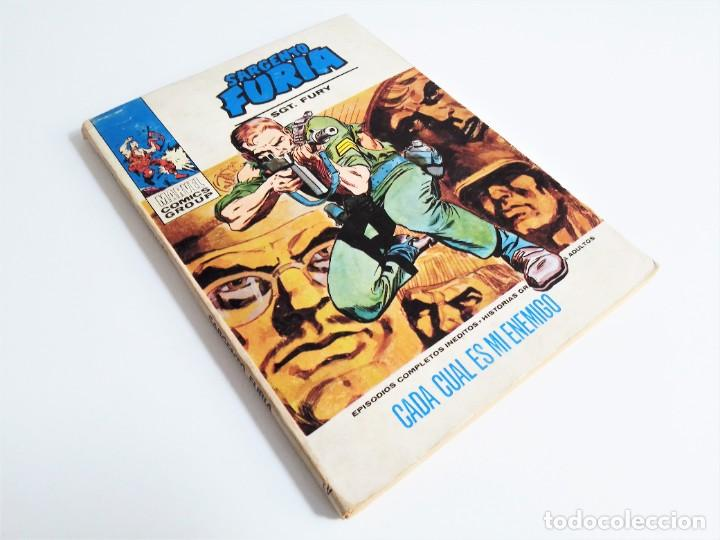 SARGENTO FURIA SGT. FURY CADA CUAL ES MI ENEMIGO 12 EDICIONES INTERNACIONALES VÉRTICE 1973 (Tebeos y Comics - Vértice - Furia)
