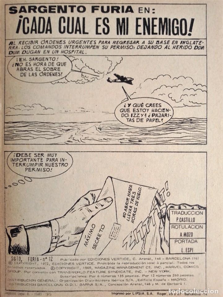 Cómics: SARGENTO FURIA SGT. FURY CADA CUAL ES MI ENEMIGO 12 EDICIONES INTERNACIONALES VÉRTICE 1973 - Foto 6 - 270995928