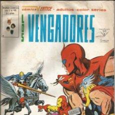 Cómics: LOS VENGADORES V2. VÉRTICE 1974. Nº 49 UN VILLANO MORIRÁ A MIS MANOS. Lote 271186583