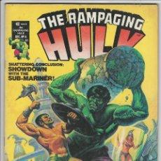 Cómics: VERTICE. THE RAMPAGING HULK. 6. ORIGINALES AMERICANOS.. Lote 271199453