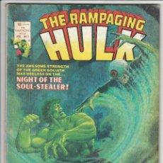 Cómics: VERTICE. THE RAMPAGING HULK. 7. ORIGINALES AMERICANOS.. Lote 271208323