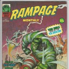 Cómics: VERTICE. THE RAMPAGING HULK. 3. ORIGINALES AMERICANOS.. Lote 271229133