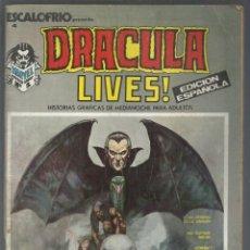 Cómics: REVISTA ESCALOFRIO Nº 4. DRACULA LIVES! Nº 1. MARVEL. EDICIONES VÉRTICE, 1974. Lote 271557528