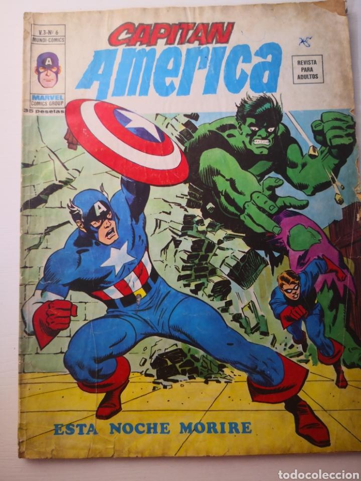 1976 - CAPITÁN AMÉRICA. ESTA NOCHE MORIRÉ. VOL.3 N°6. VÉRTICE. MARVEL (Tebeos y Comics - Vértice - Capitán América)