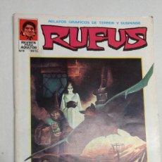 Cómics: RUFUS-RELATOS GRÁFICOS DE TERROR Y SUSPENSE- Nº 8 -1974-ESTEBAN MAROTO-BUENO-DIFÍCIL-. Lote 272203183