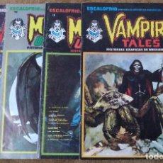 Cómics: ESCALOFRIO Nº 10, 12, 16 Y 35 (VERTICE 1974) VAMPIRE TALES Nº 2 Y 9 + MONSTERS UNLEASHED 4 Y 5.. Lote 195990443