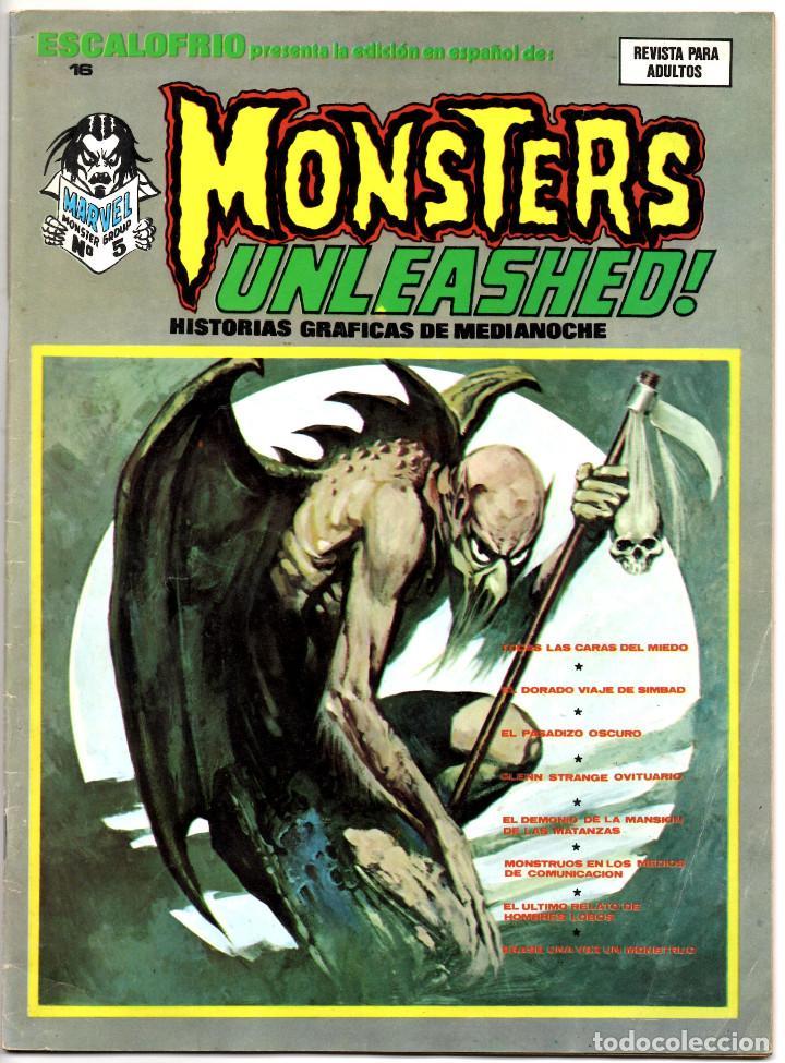 Cómics: ESCALOFRIO nº 10, 12, 16 y 35 (Vertice 1974) Vampire Tales nº 2 y 9 + Monsters Unleashed 4 y 5. - Foto 8 - 195990443
