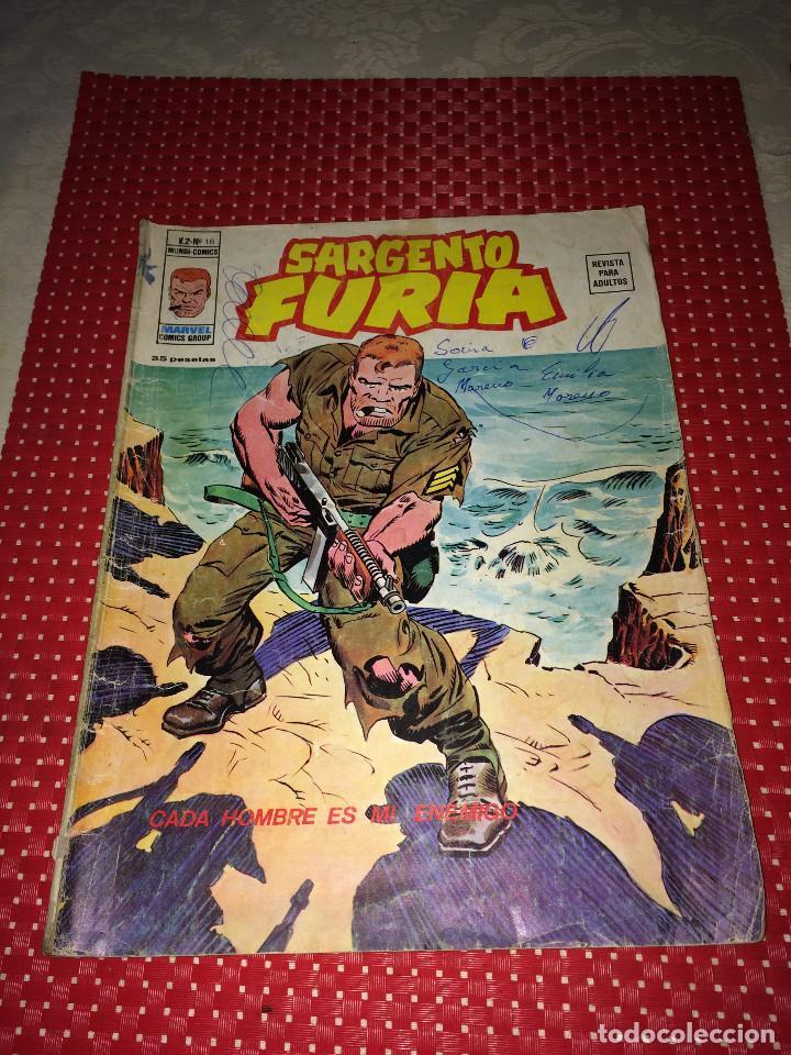 SARGENTO FURIA - V. 2 - Nº 16 - EDICIONES VERTICE - AÑO 1975 - VER ESTADO (Tebeos y Comics - Vértice - Furia)
