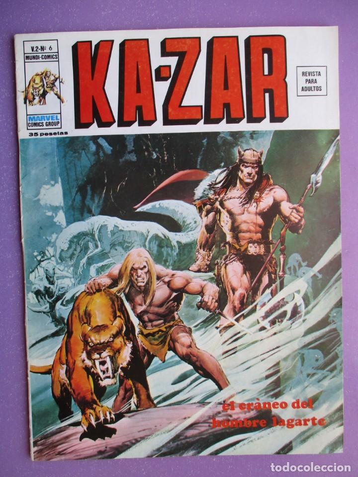 KA- ZAR Nº 6 VERTICE GRAPA ¡¡¡¡¡EXCELENTE ESTADO !!!! (Tebeos y Comics - Vértice - V.1)