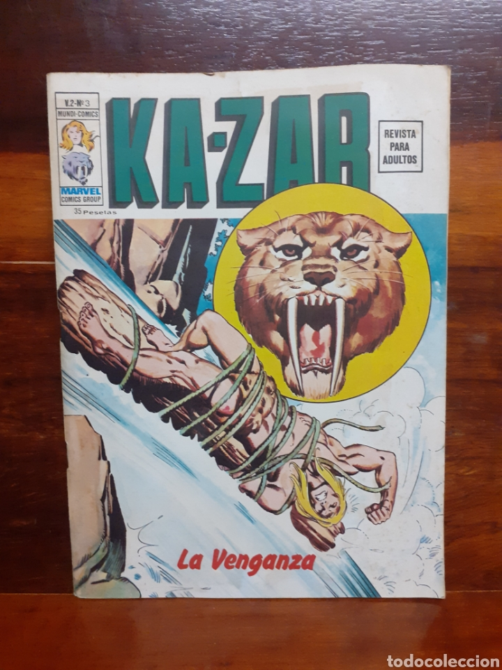KA-ZAR. MUNDI COMICS V.2 - N°3. EDICIONES VERTICE. 1974. BUEN ESTADO. (Tebeos y Comics - Vértice - Surco / Mundi-Comic)