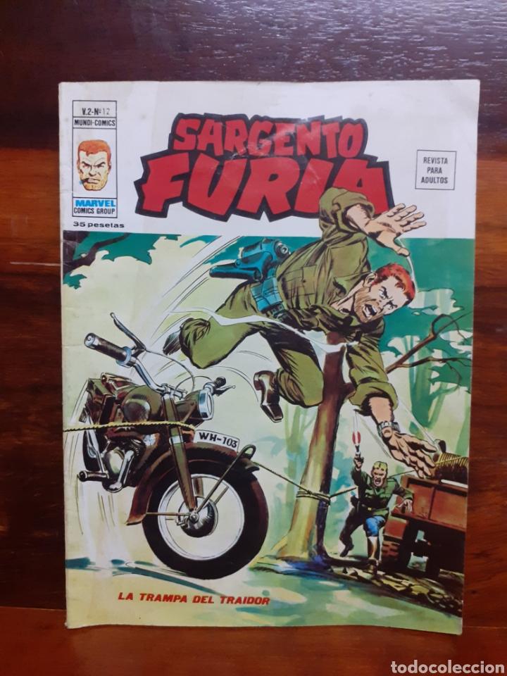 SARGENTO FURIA. MUNDO COMICS. V.2 - N°12. EDICIONES VERTICE.1974. BUEN ESTADO (Tebeos y Comics - Vértice - Furia)