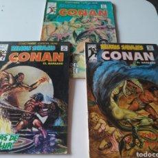 Comics : LOTE 3 CÓMICS CONAN RELATOS SALVAJES. 1974 Y 1979. VOL. 1: 55, 62 Y 77. MUNDI CÓMICS. VÉRTICE.. Lote 275833468