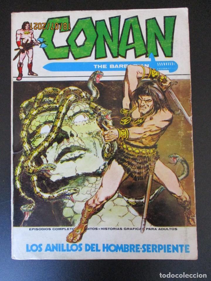 CONAN (1972, VERTICE) 4 · XII-1972 · LOS ANILLOS DEL HOMBRE SERPIENTE (Tebeos y Comics - Vértice - Conan)