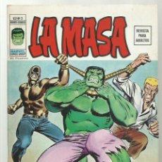 Cómics: LA MASA VOL. 2 5, 1974, VERTICE, MUY BUEN ESTADO. Lote 276467838