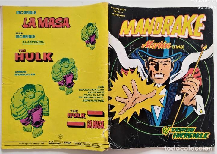 Cómics: LOTE 2 COMICS VÉRTICE MANDRAKE MERLÍN EL MAGO Nº 1 Y 4 - Foto 2 - 276927743