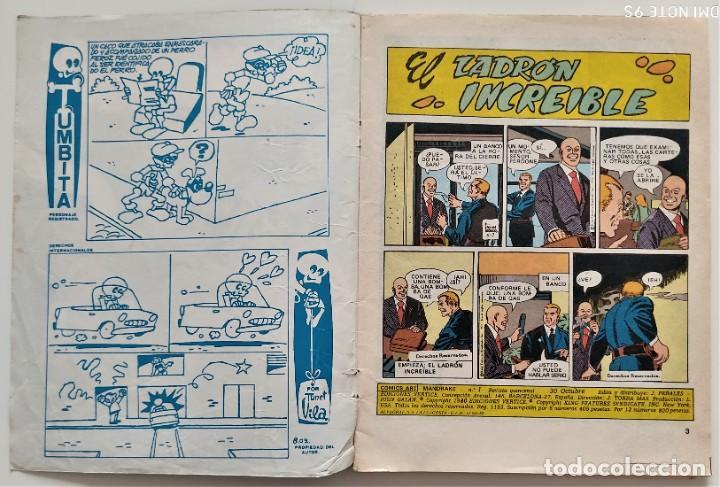 Cómics: LOTE 2 COMICS VÉRTICE MANDRAKE MERLÍN EL MAGO Nº 1 Y 4 - Foto 3 - 276927743