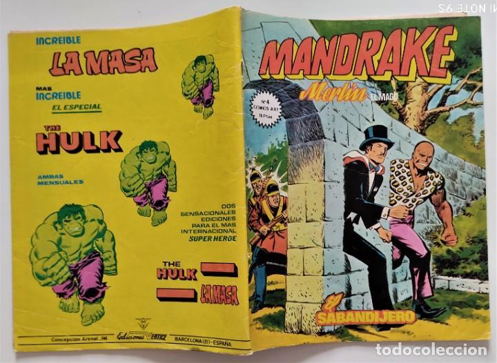 Cómics: LOTE 2 COMICS VÉRTICE MANDRAKE MERLÍN EL MAGO Nº 1 Y 4 - Foto 4 - 276927743