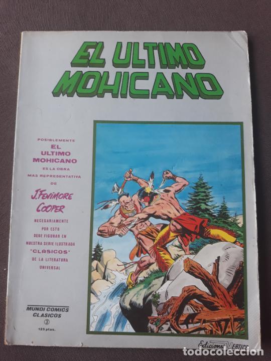 EL ÚLTIMO MOHICANO VERTICE MUNDICOMICS CLÁSICOS Nº 3 (Tebeos y Comics - Vértice - Otros)