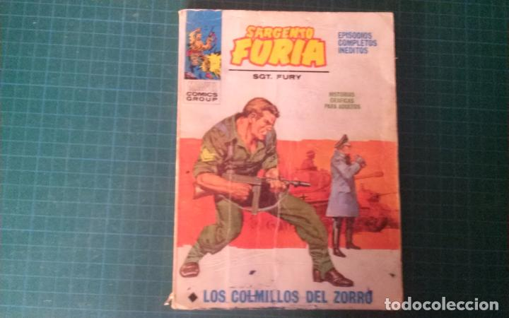 SARGENTO FURIA. N°3. VERTICE. CASTIGADO. LE FALTA LA HOJA DE GALERIA DEL PERSONAJE. (Tebeos y Comics - Vértice - V.1)