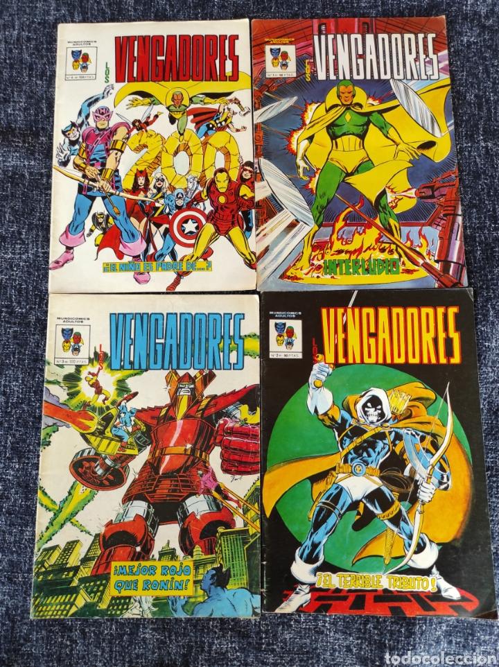LOS VENGADORES MUNDICOMICS Nº 1 AL 4 -ED. EDICIONES VERTICE (Tebeos y Comics - Vértice - Surco / Mundi-Comic)
