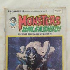 Cómics: MONSTERS UNLEASH!! --EDICIONES VÉRTICE--AÑO 1974--N° 9-- EN REGULAR ESTADO DE CONSERVACIÓN--. Lote 277535113