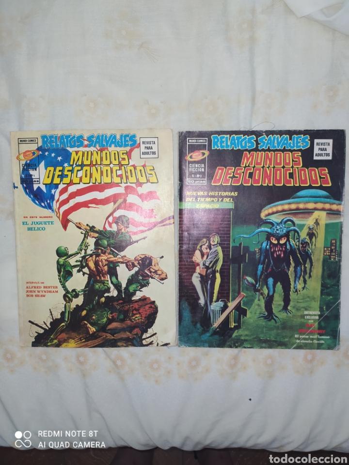 RELATOS SALVAJES--LOTE DE DOS COMICS QUE SE CONTINUAN-- SON LA JOYA DE LA COLECCIÓN--SON MÁS CAROS-- (Tebeos y Comics - Vértice - Relatos Salvajes)
